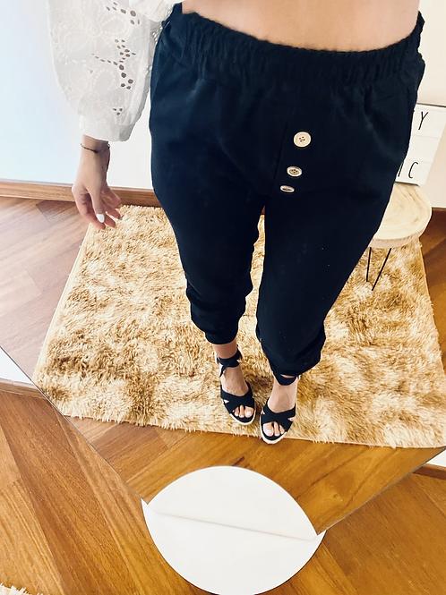 Pantalone cotone con bottoni