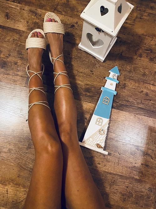 Sandali bassi in corda
