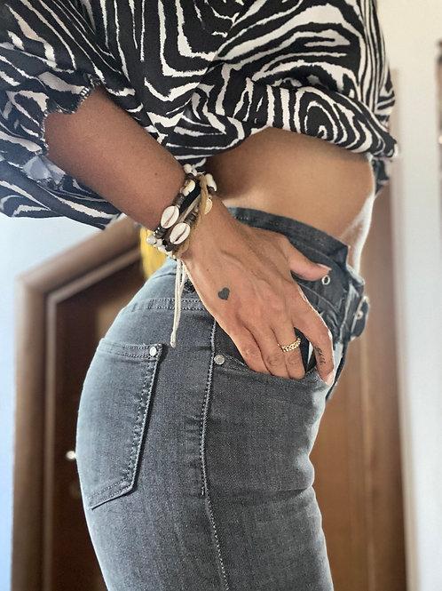 Denim vita alta cintura