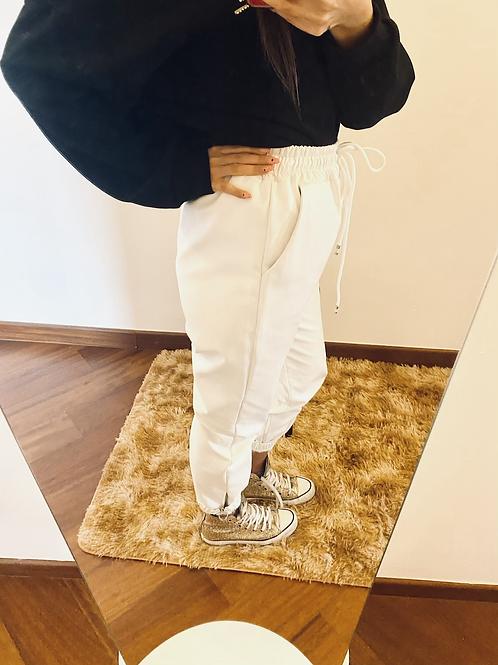 Pantalone simil pelle bianco