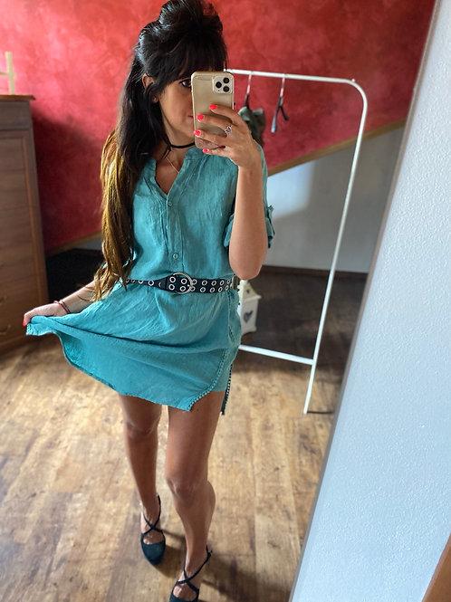 Maxi camicia lino