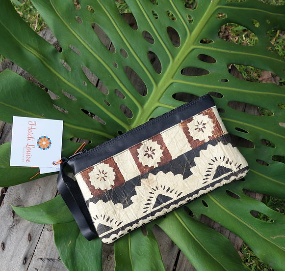 Masi - Fijian Bark Cloth Clutch