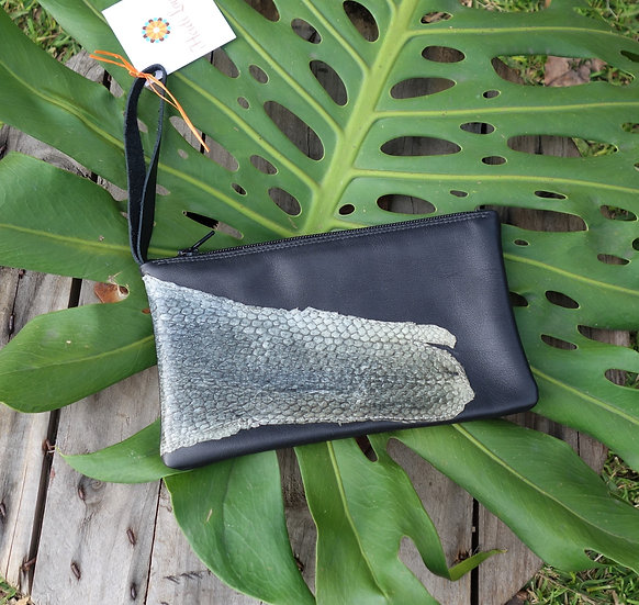Fish Leather Clutch