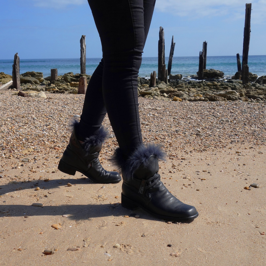 Wool Trimmed Ankle Boot