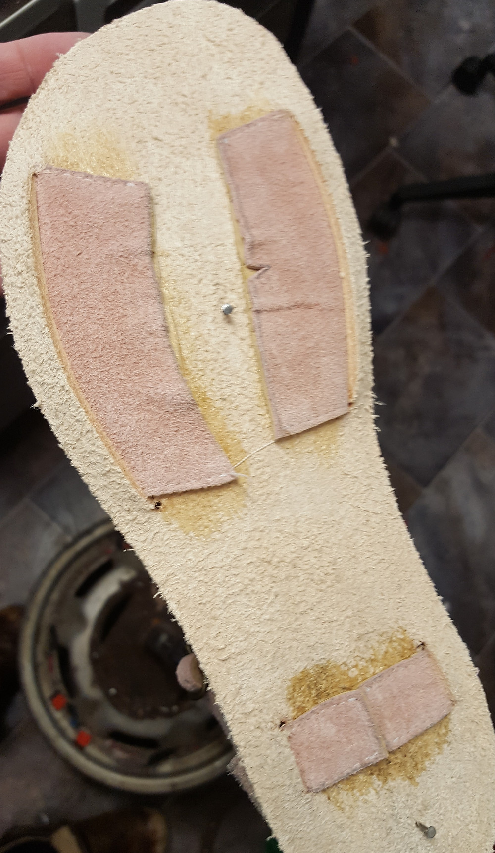 Upper is glued to insole