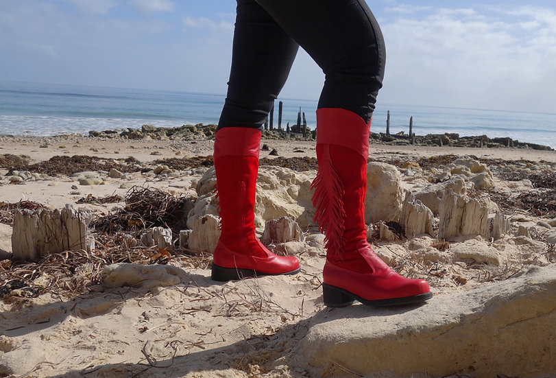 Red Feather Boot