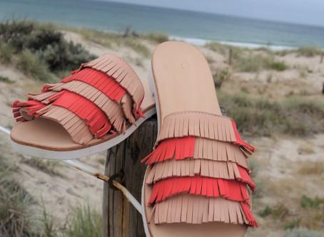 Tassel Slide Sandal - in the making