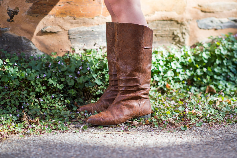 Floral Embossed Boot