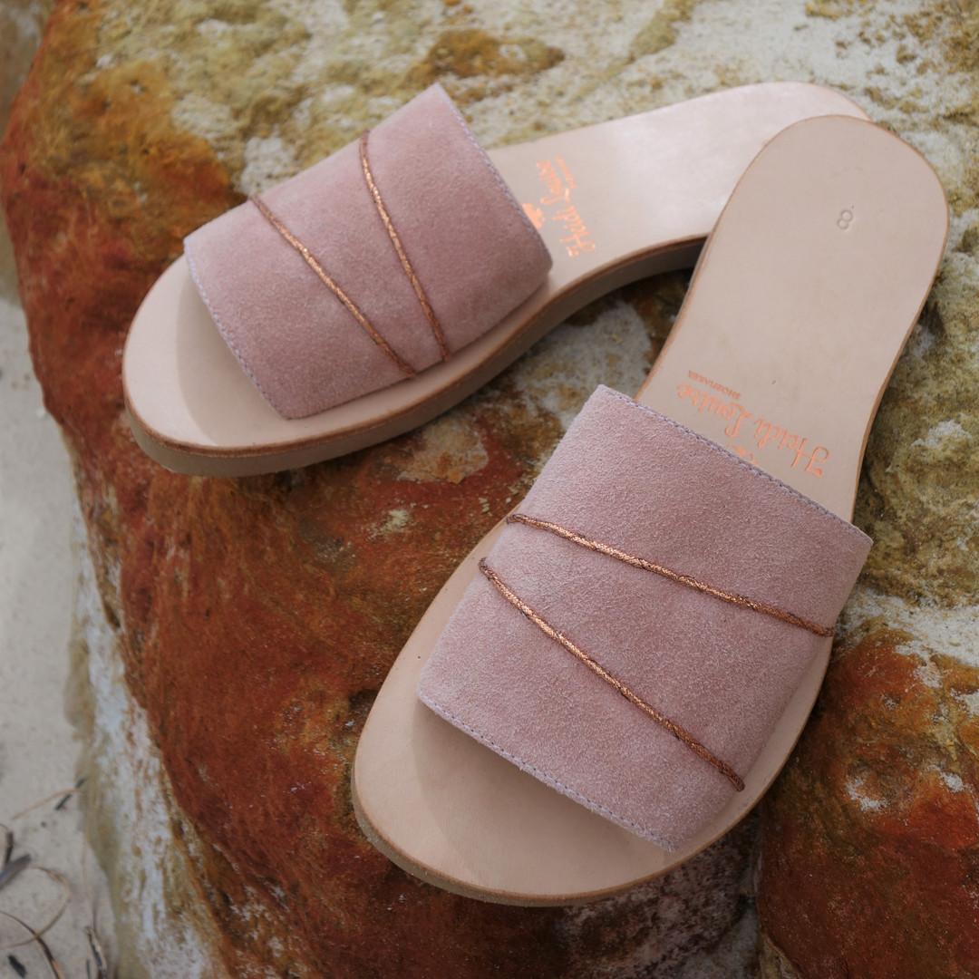 Soft Rose Suede Slide