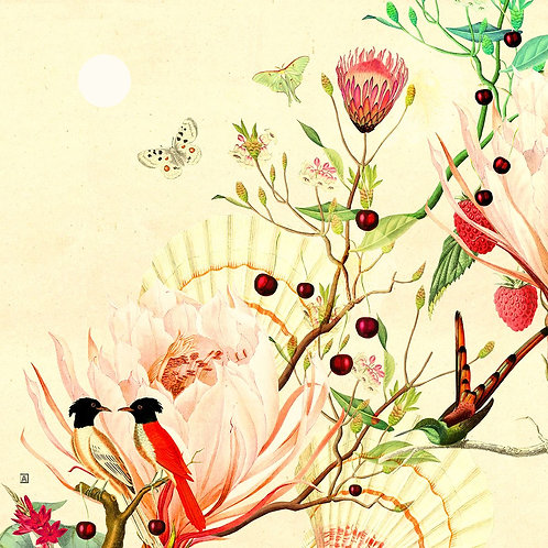 Botanical composition for the spring