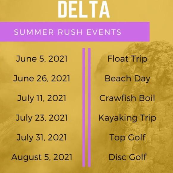Delta Tau Delta   Summer Recruitment