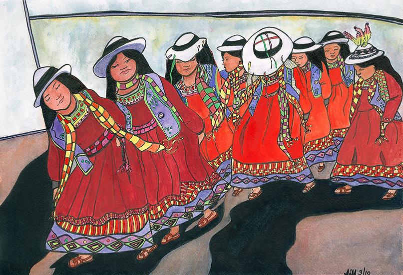 Bolivian Tinku Dancers