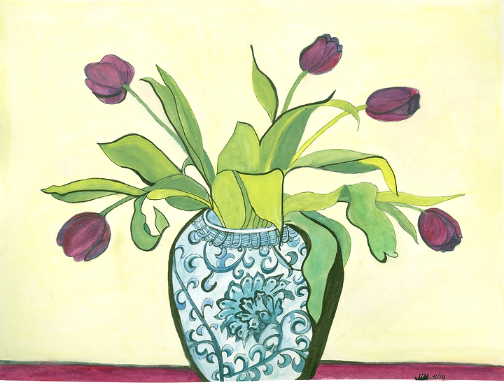 Purple Tulips in Patricia's Vase