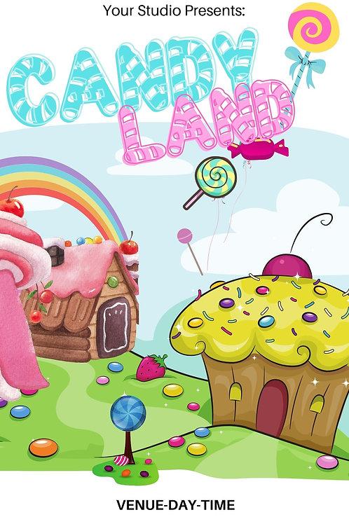 Candy Land  Program Book Template