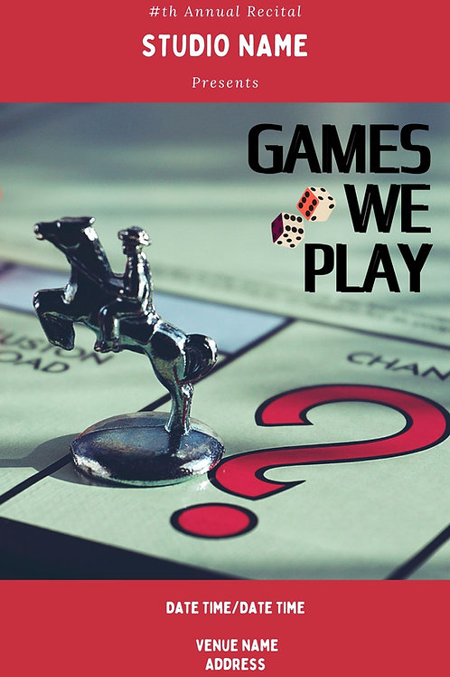 Games We Play: Program Book Template