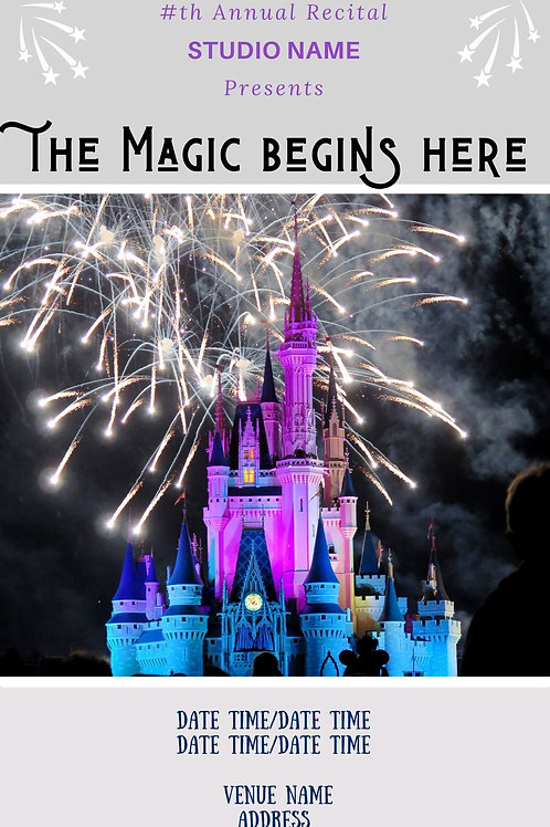 The Magic Begins Here Program Book Template