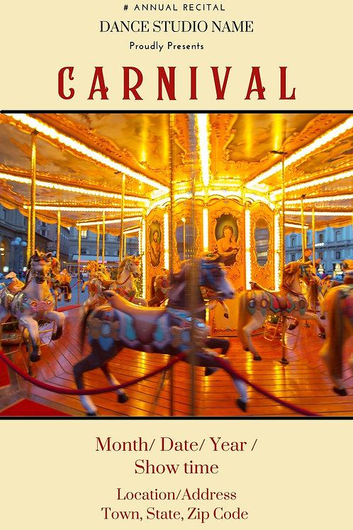 Carnival Program Book Template