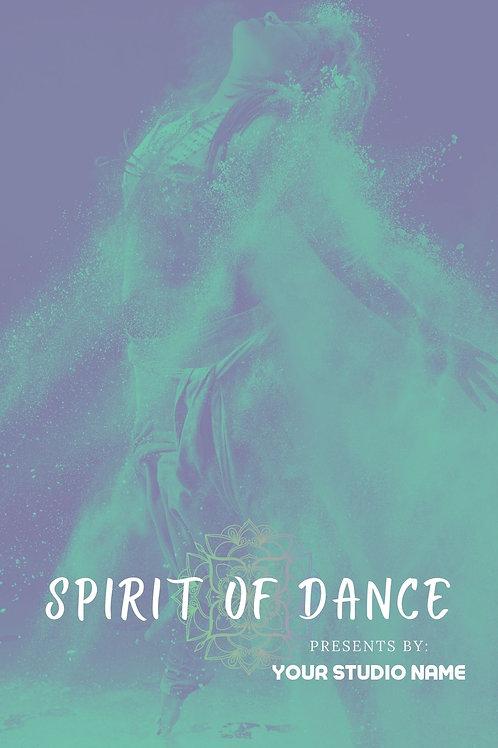 Spirit of Dance Program Book Template
