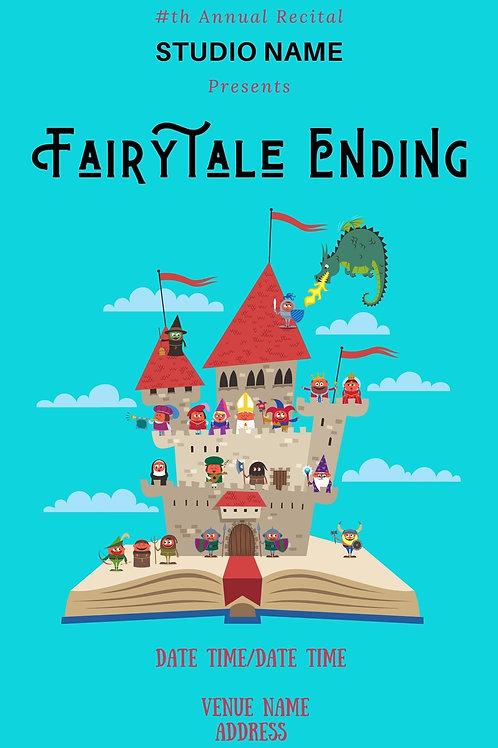 Fairy Tale Ending Program Book Template