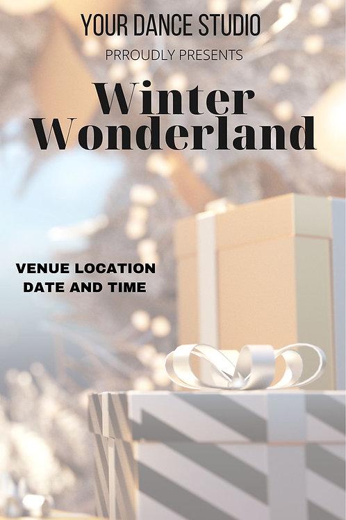 Winter Wonderland  Program Book Template