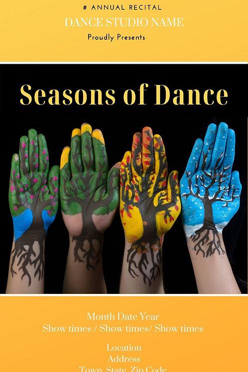 Seasons of Dance Program Book Template
