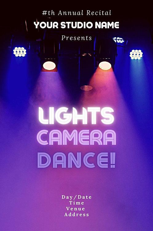 Lights, Camera, Dance Program Book Template