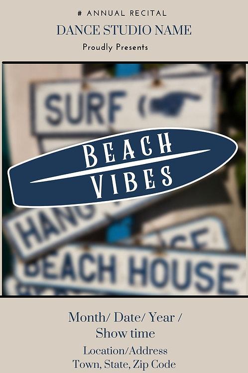Beach Vibes Program Book Template