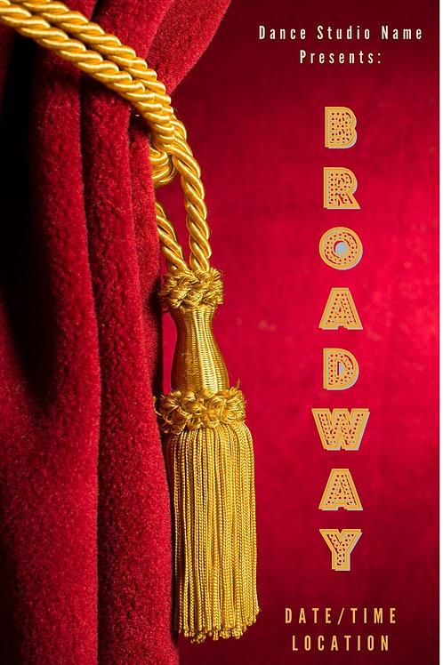 Broadway Program Book Template