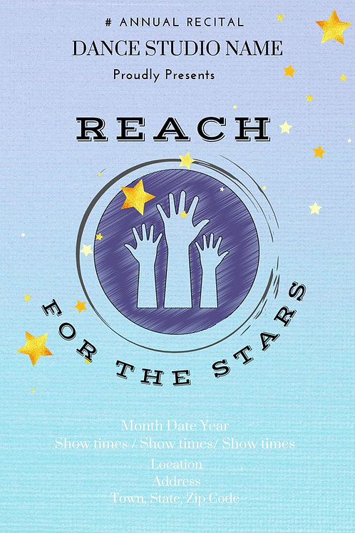 Reach for the Stars Program Book Template