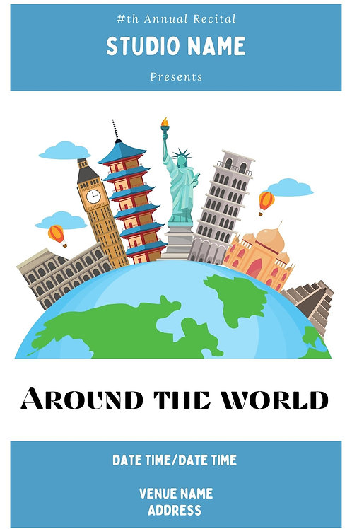 Around The World Program Book Template
