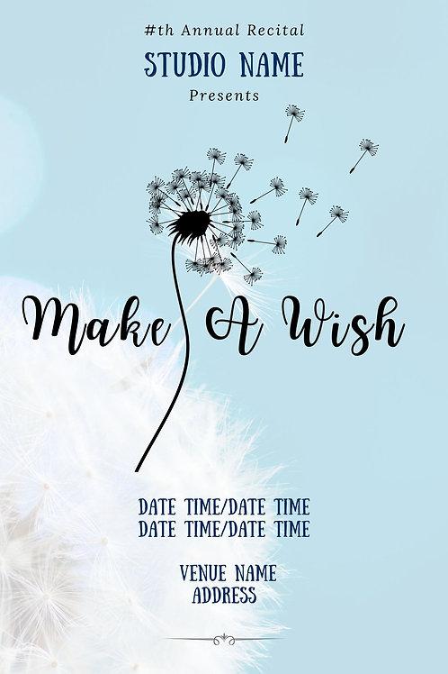 Make a Wish Program Book Template