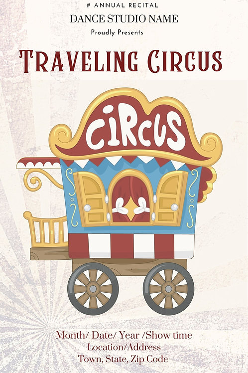 Traveling Circus Program Book Template