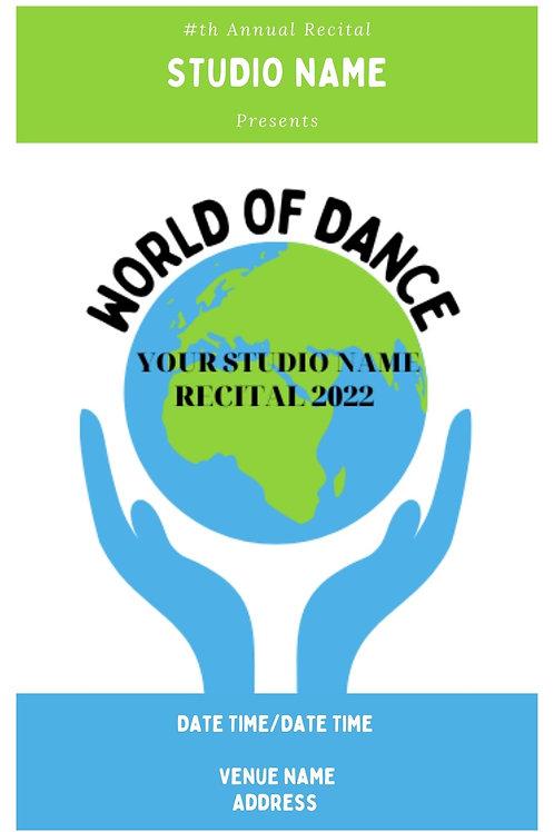 World of Dance Program Book Template