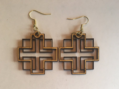 Holden Inspired Cross Earrings - 9
