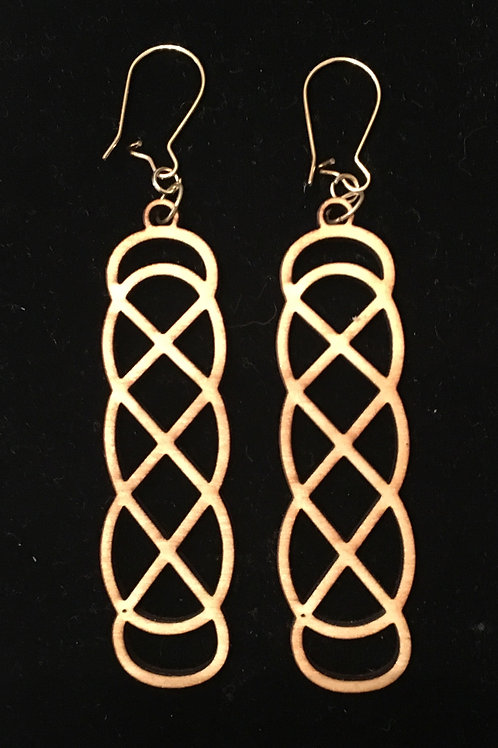 Celtic Loop Laser Cut Wood Earrings