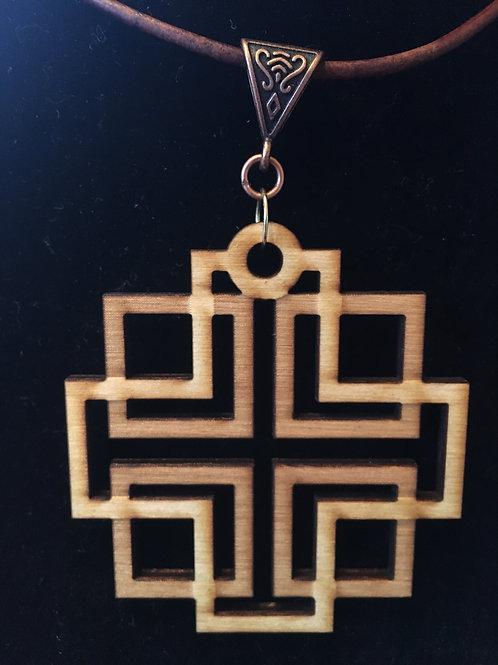 Holden Cross Wooden Necklace
