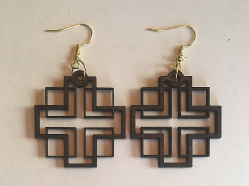 Holden Inspired Cross Earrings - 6