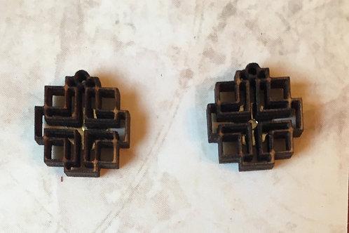 Post Holden Cross Earrings