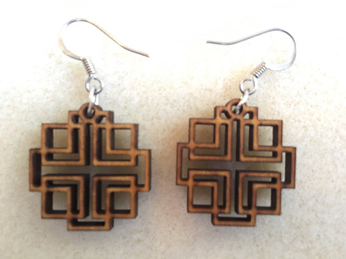 Small Holden Cross Wooden Earrings