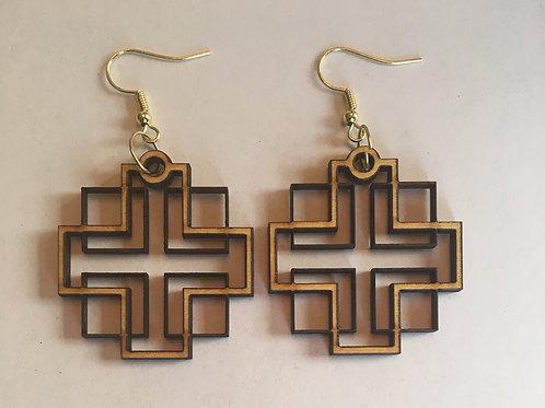 Holden Inspired Cross Earrings - 4