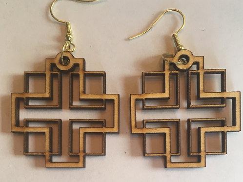 Holden Inspired Cross Earrings -3