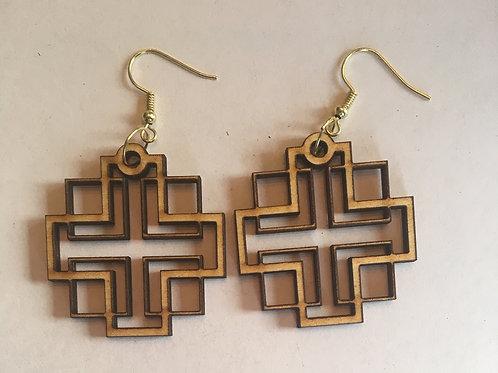 Holden Inspired Cross Earrings - 8