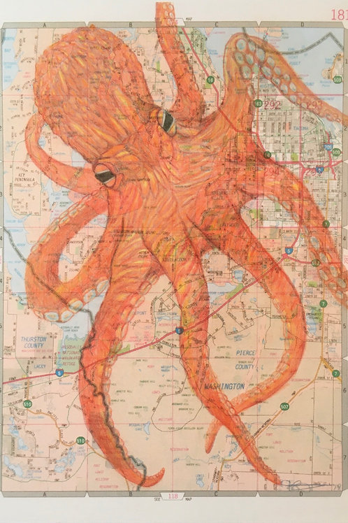 Tacoma Pacific Giant Octopus Postcard