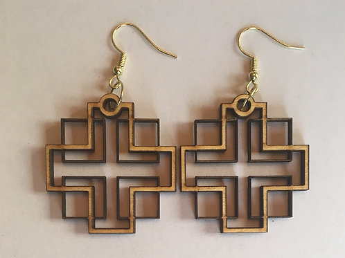 Holden Inspired Cross Earrings -2