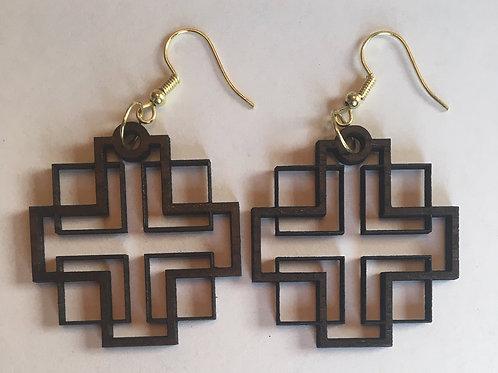 Holden Inspired Cross Earrings - 1