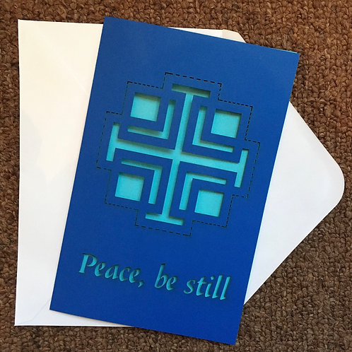 Wholesale Peace be still Greeting Card