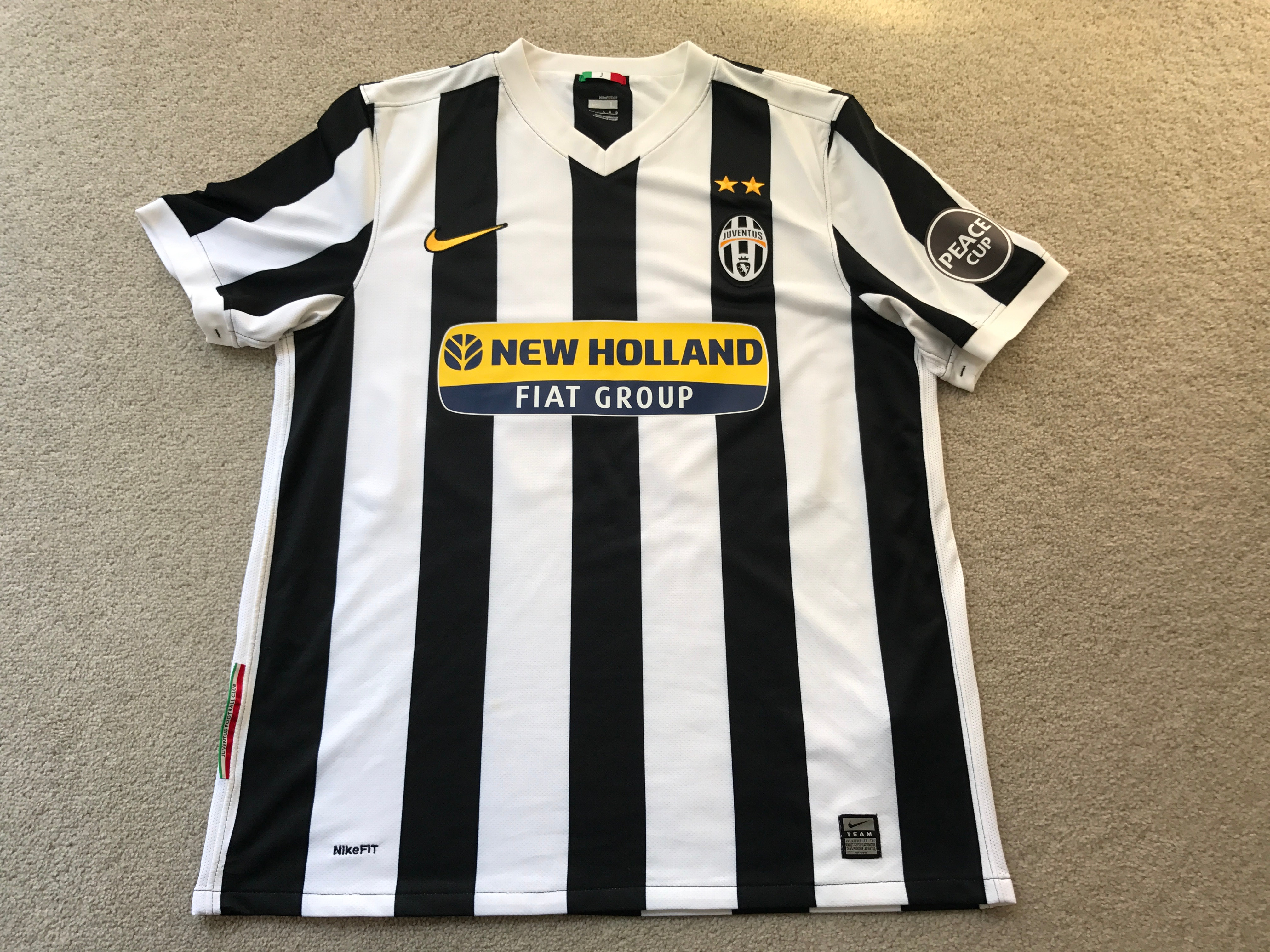 wholesale dealer fae7a 81094 Player issue Nike Juventus Home Jersey 2009-2010 Peace Cup Tournament