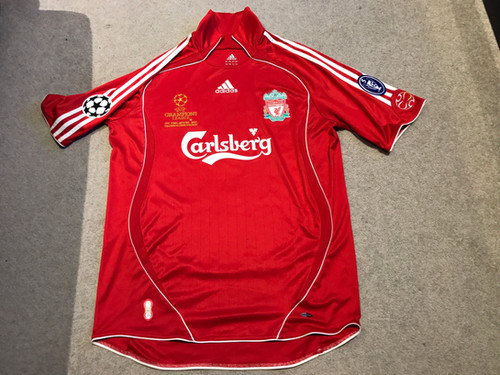 56eae00d06f Player Issue Adidas Liverpool FC Home Jersey 2007 UEFA Champions League  Final
