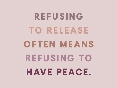 Must release to find peace!