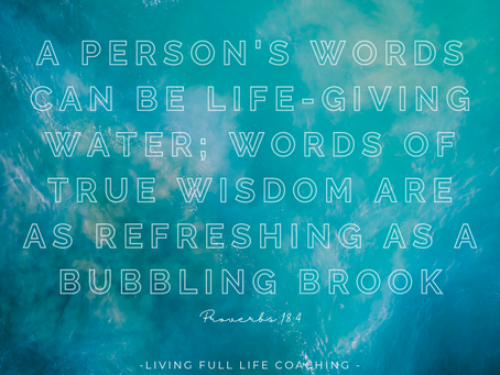 Your words can give life to others